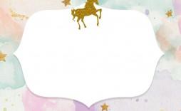 004 Stunning Unicorn Baby Shower Template Free Download Sample  Printable Invitation