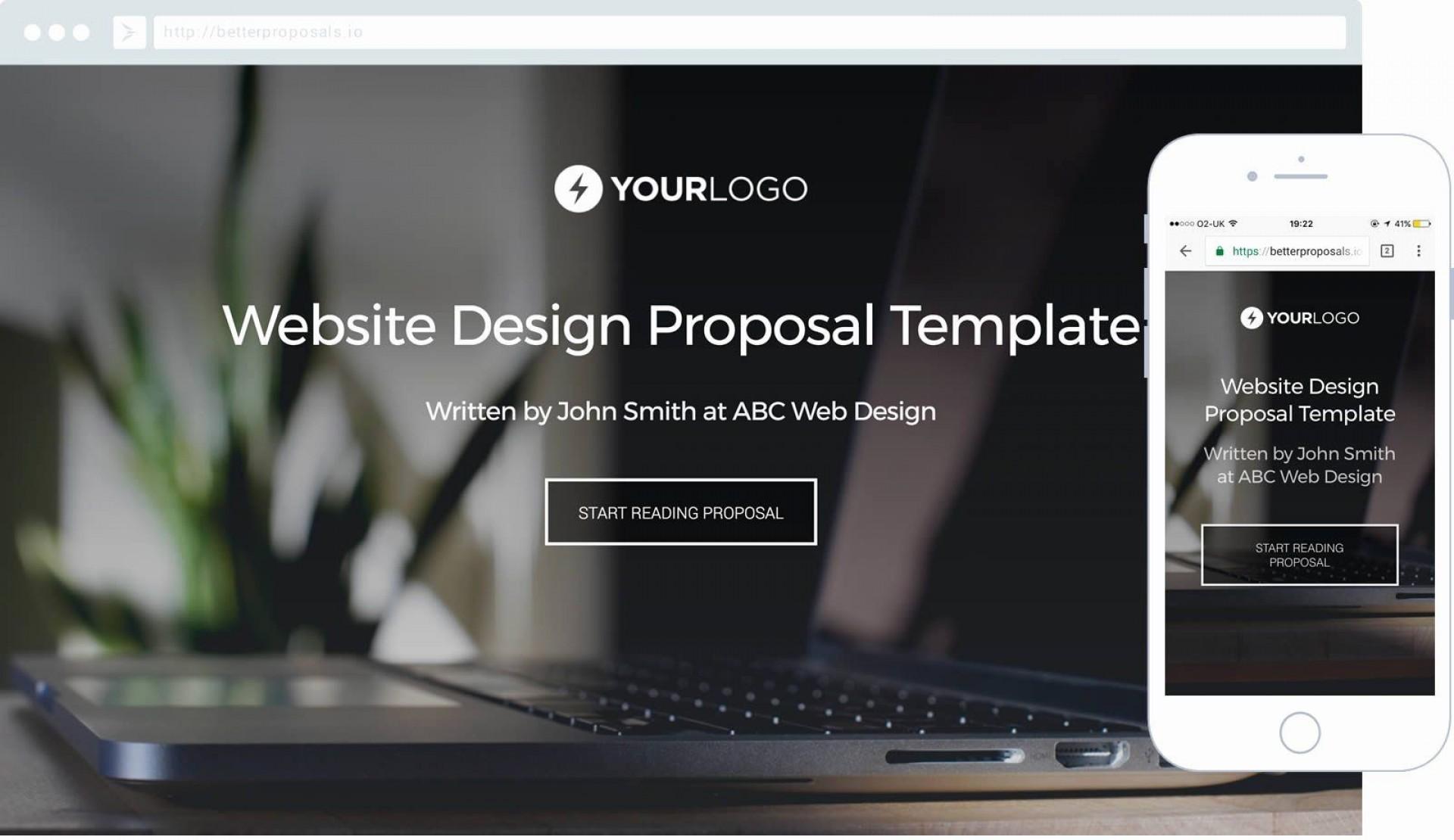 004 Stunning Web Design Proposal Template Free High Definition  Freelance Download1920