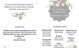 004 Stunning Wedding Order Of Service Template Free Design  Uk Church Download