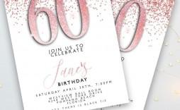 004 Stupendou 60 Birthday Invite Template Highest Quality  Templates 60th Printable Free