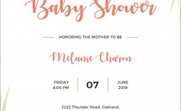 004 Stupendou Baby Shower Announcement Template Concept  Templates Invitation India Indian Free With Photo