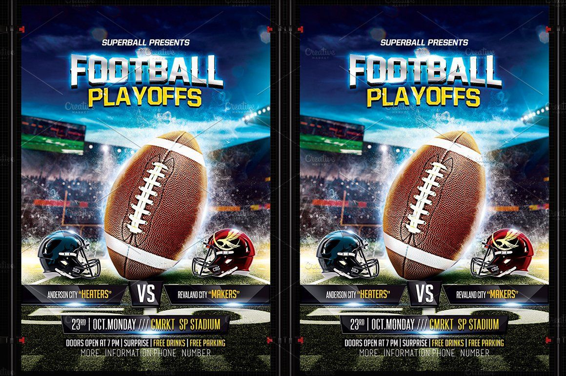 004 Stupendou Football Flyer Template Free Example  Download Flag PartyFull