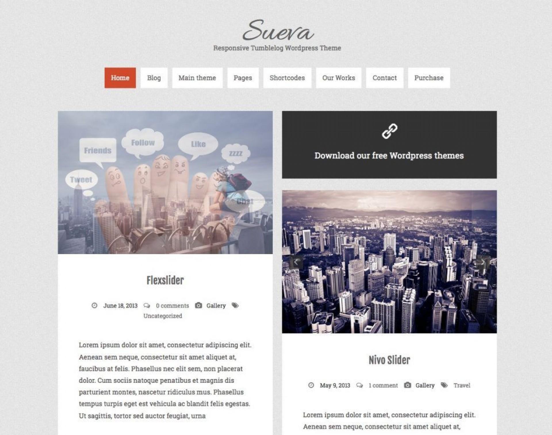 004 Stupendou Free Blog Template Wordpres Highest Clarity  Wordpress Best Travel Theme Food 20201920
