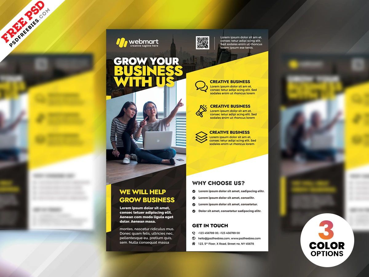 004 Stupendou Free Flyer Design Template Image  Download Psd Simple Uk