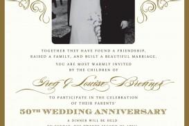 004 Stupendou Free Printable 50th Wedding Anniversary Invitation Template Picture
