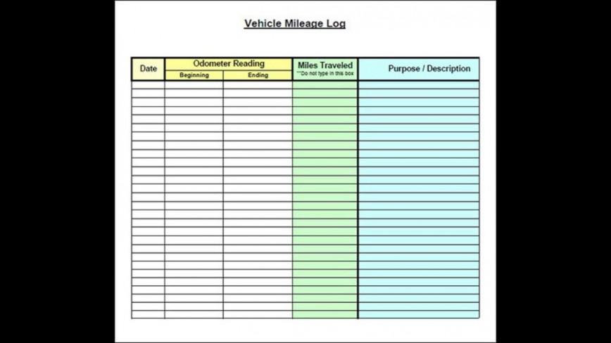 004 Stupendou Mileage Tracker Form Excel Photo