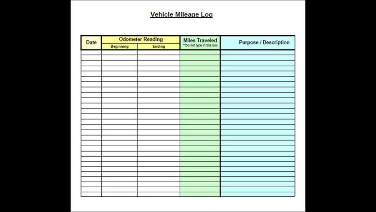 004 Stupendou Mileage Tracker Form Excel Photo Full