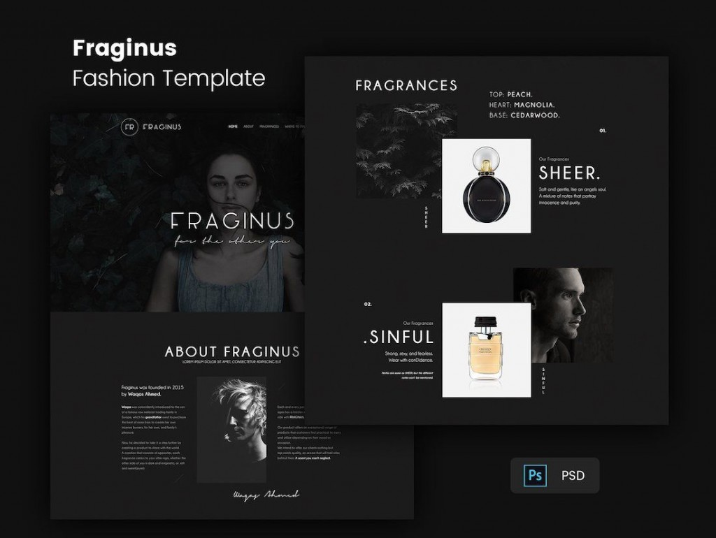 004 Stupendou One Page Website Template Psd Free Download Example Large