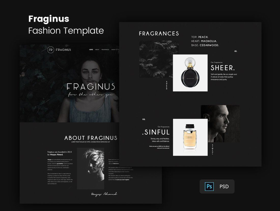 004 Stupendou One Page Website Template Psd Free Download Example Full