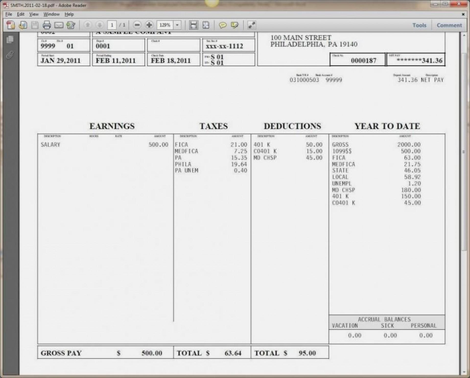 004 Stupendou Pay Stub Template Word Photo  Document Check Microsoft Free1920