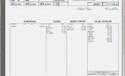 004 Stupendou Pay Stub Template Word Photo  Document Check Microsoft Free