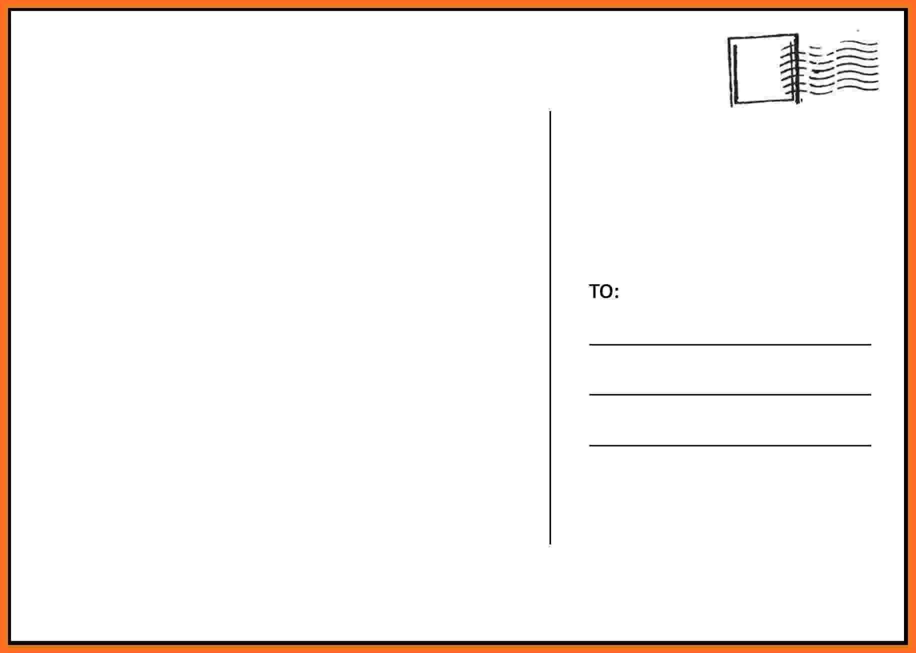 004 Stupendou Postcard Front And Back Template Free Design  To SchoolFull