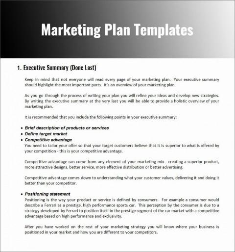 004 Stupendou Restaurant Marketing Plan Template Free Download Design 480