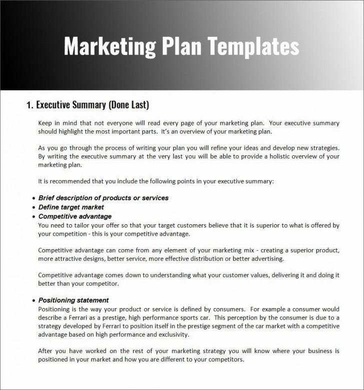 004 Stupendou Restaurant Marketing Plan Template Free Download Design 728