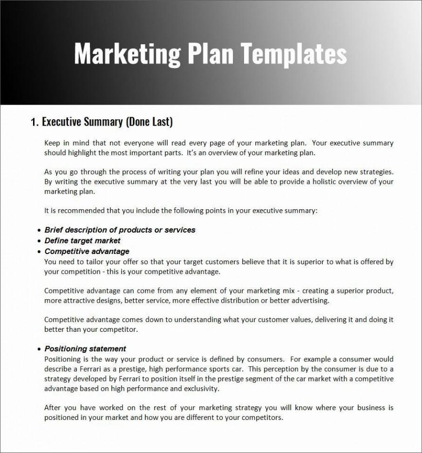 004 Stupendou Restaurant Marketing Plan Template Free Download Design 868