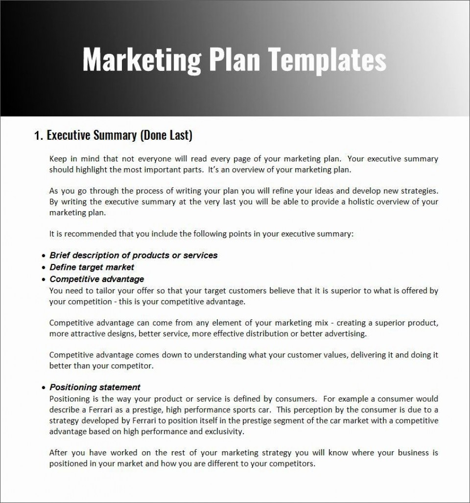004 Stupendou Restaurant Marketing Plan Template Free Download Design 960