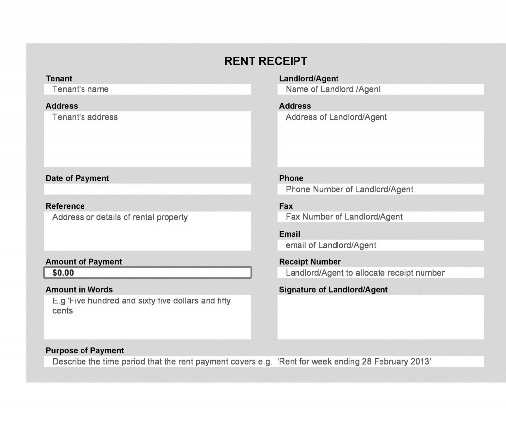 004 Stupendou Sample Rent Receipt Word Doc Example Large