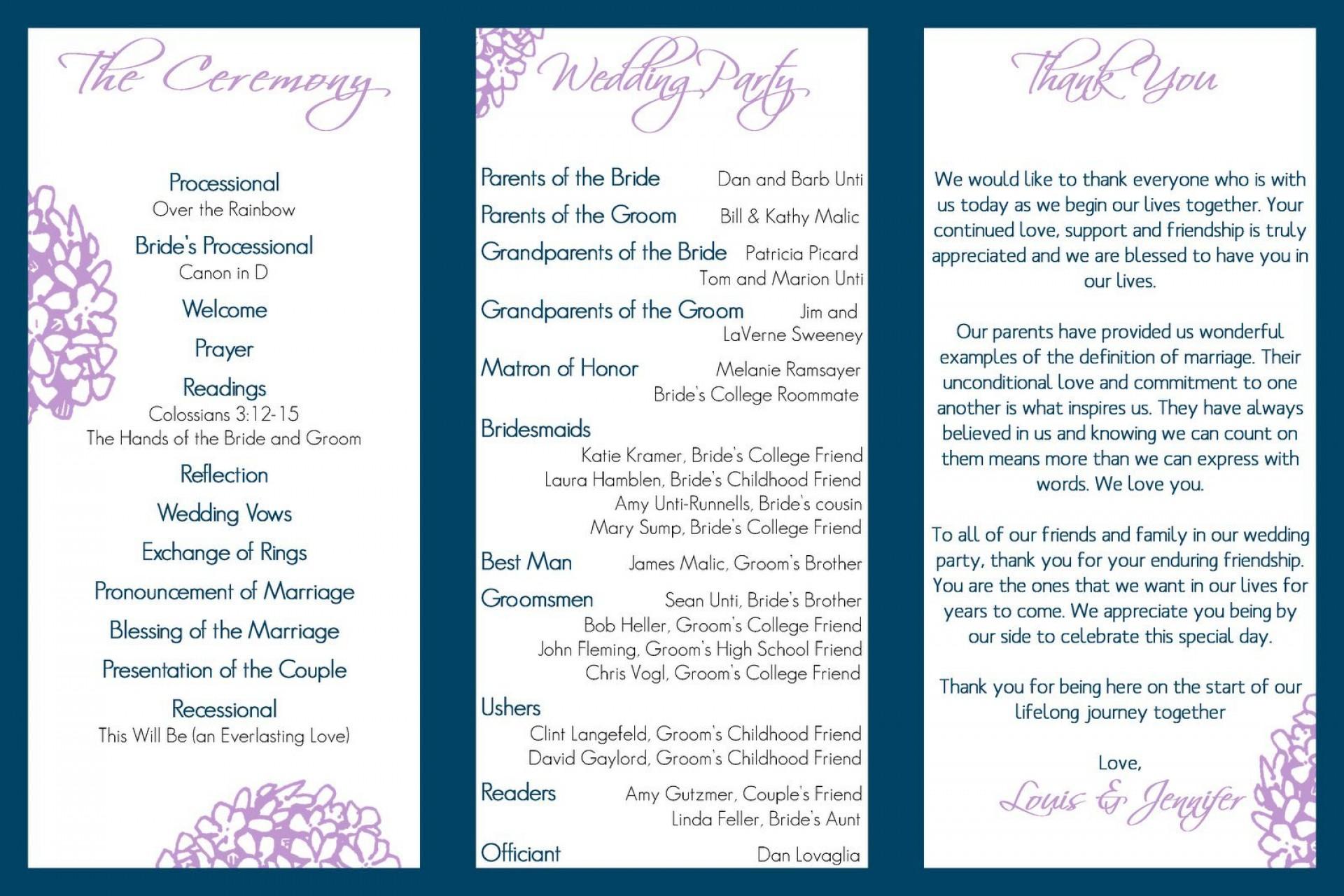 004 Stupendou Trifold Wedding Program Template Example  Templates Tri Fold Tri-fold Publisher Free Foldable1920