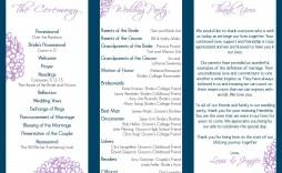 004 Stupendou Trifold Wedding Program Template Example  Templates Tri Fold Tri-fold Publisher Free Foldable