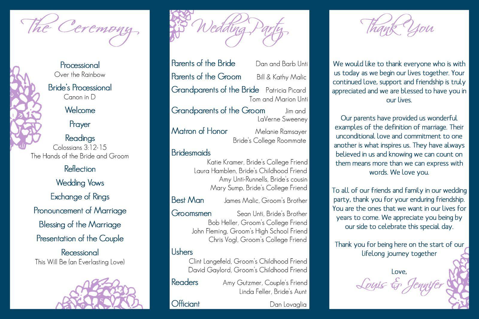 004 Stupendou Trifold Wedding Program Template Example  Templates Tri Fold Tri-fold Publisher Free FoldableFull