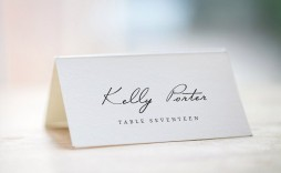 004 Stupendou Wedding Name Card Template Sample  Table Free Place Escort