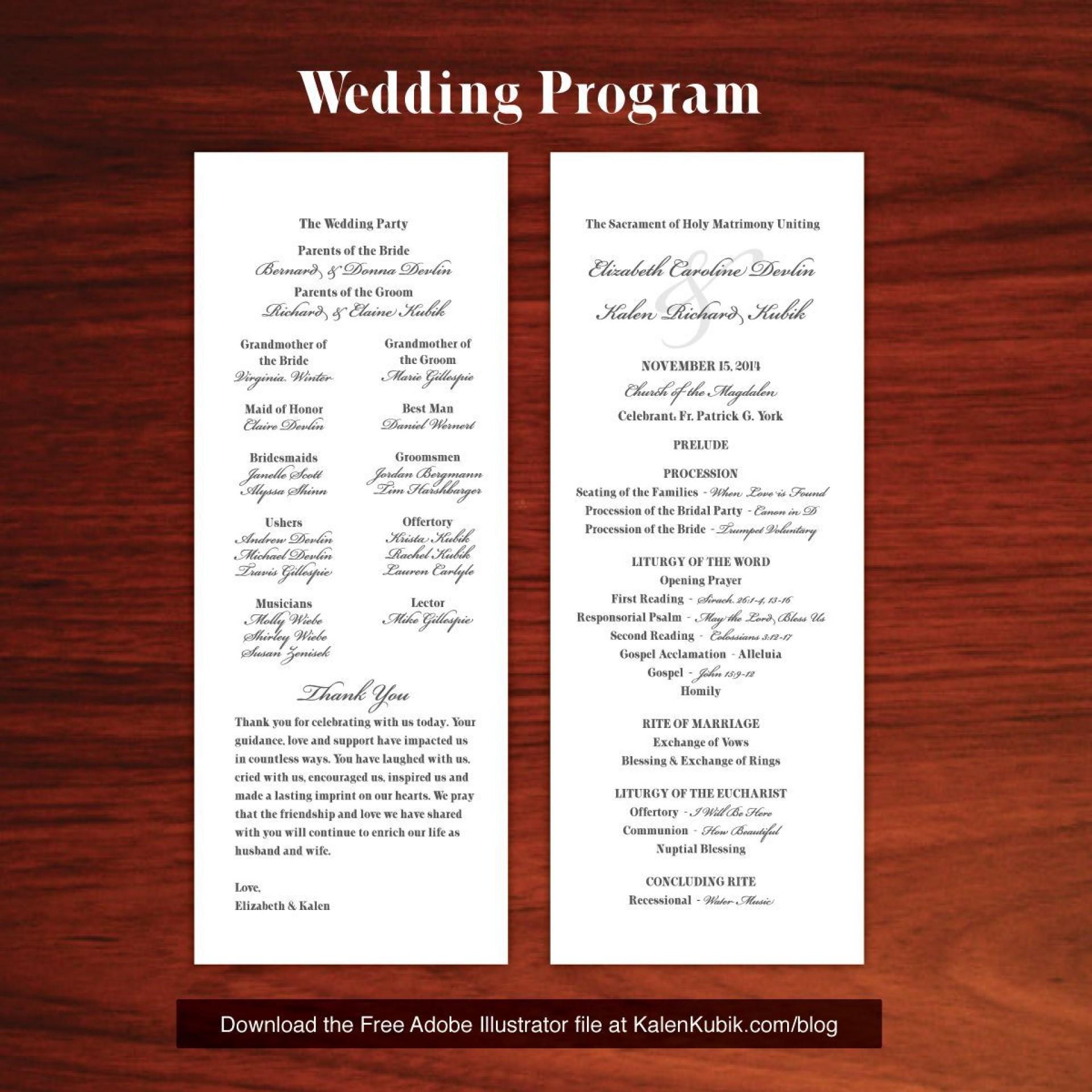 004 Stupendou Wedding Program Template Free Download Sample  Downloadable Pdf Reception Microsoft Word Fan1920