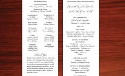 004 Stupendou Wedding Program Template Free Download Sample  Downloadable Pdf Reception Microsoft Word Fan