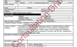004 Stupendou Workplace Incident Report Form Nsw Design  Template