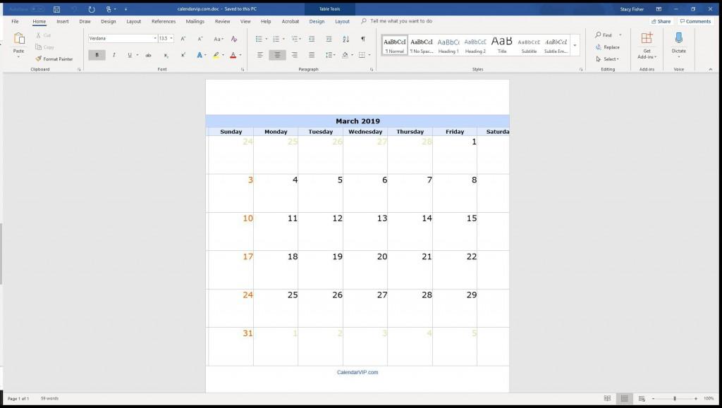 004 Surprising Calendar Template For Word 2007 Design Large