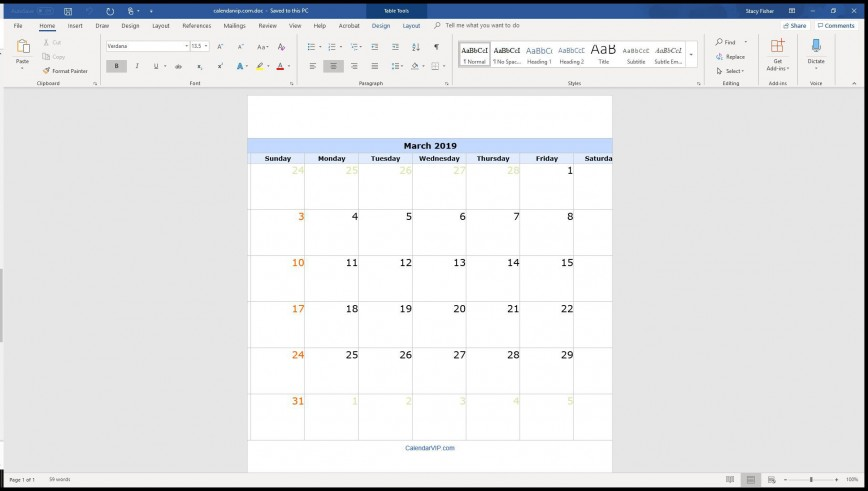004 Surprising Calendar Template For Word 2007 Design 868