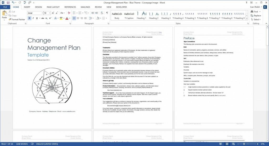 004 Surprising Change Management Plan Template Concept  TemplatesLarge