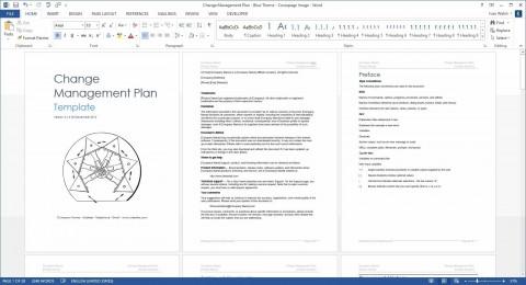 004 Surprising Change Management Plan Template Concept 480