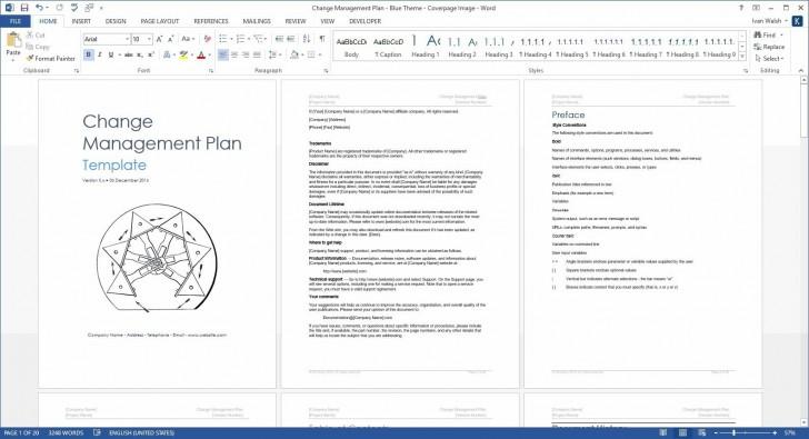 004 Surprising Change Management Plan Template Concept 728
