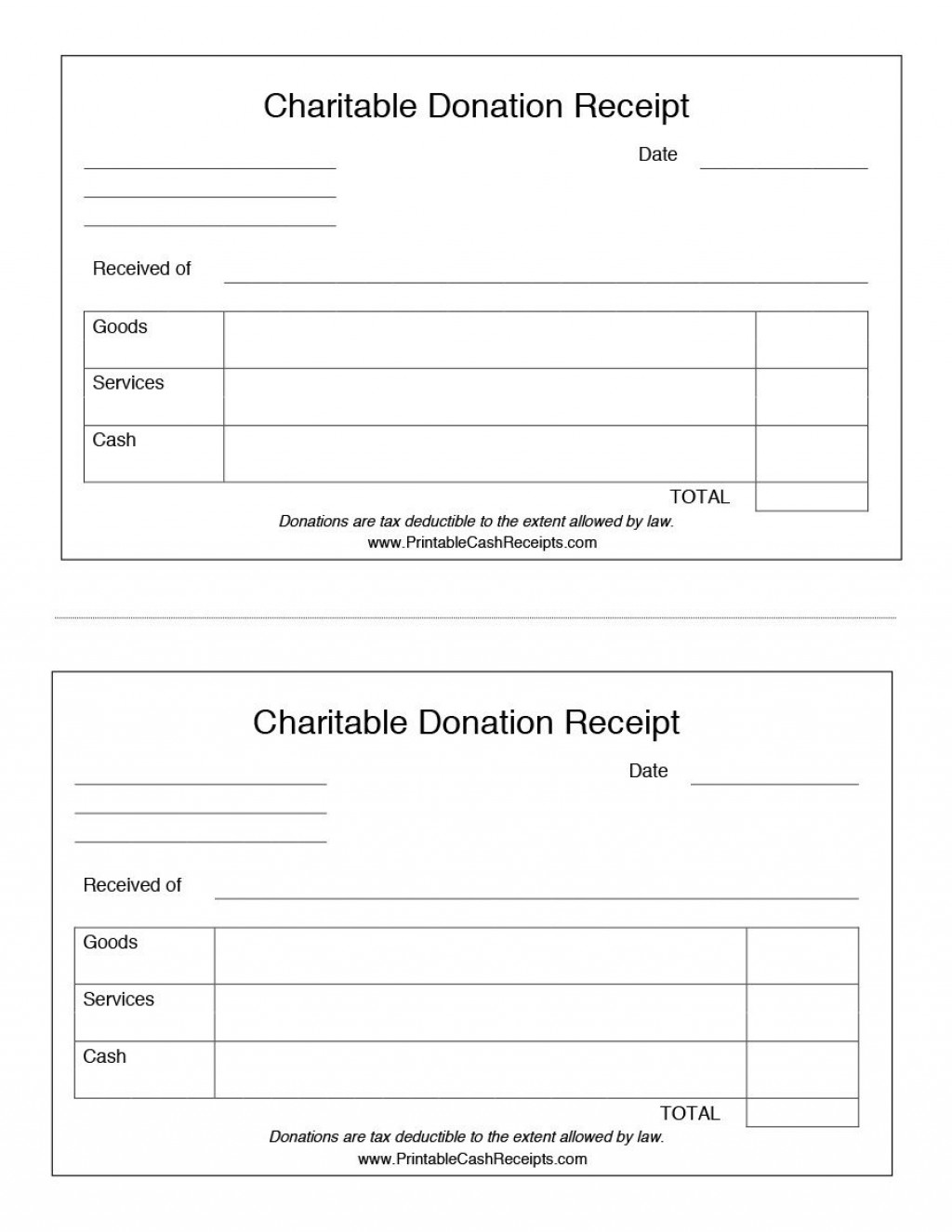 004 Surprising Charitable Contribution Receipt Example Inspiration  Donation Tax Template Sample LetterLarge