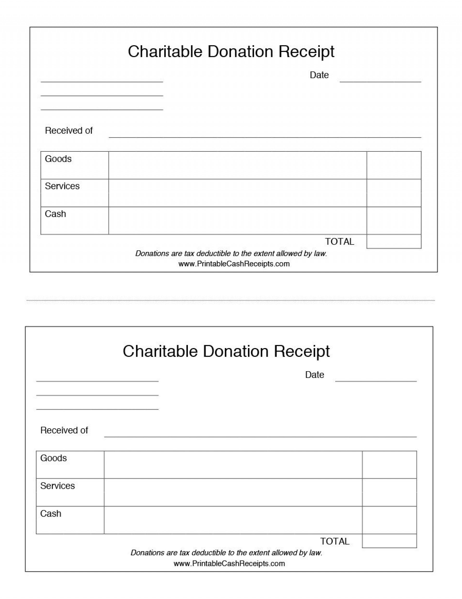 004 Surprising Charitable Contribution Receipt Example Inspiration  Donation Tax Template Sample Letter1920