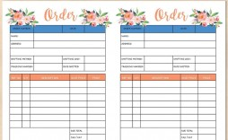 004 Surprising Custom Order Form Template Free Concept  Tumbler Editable