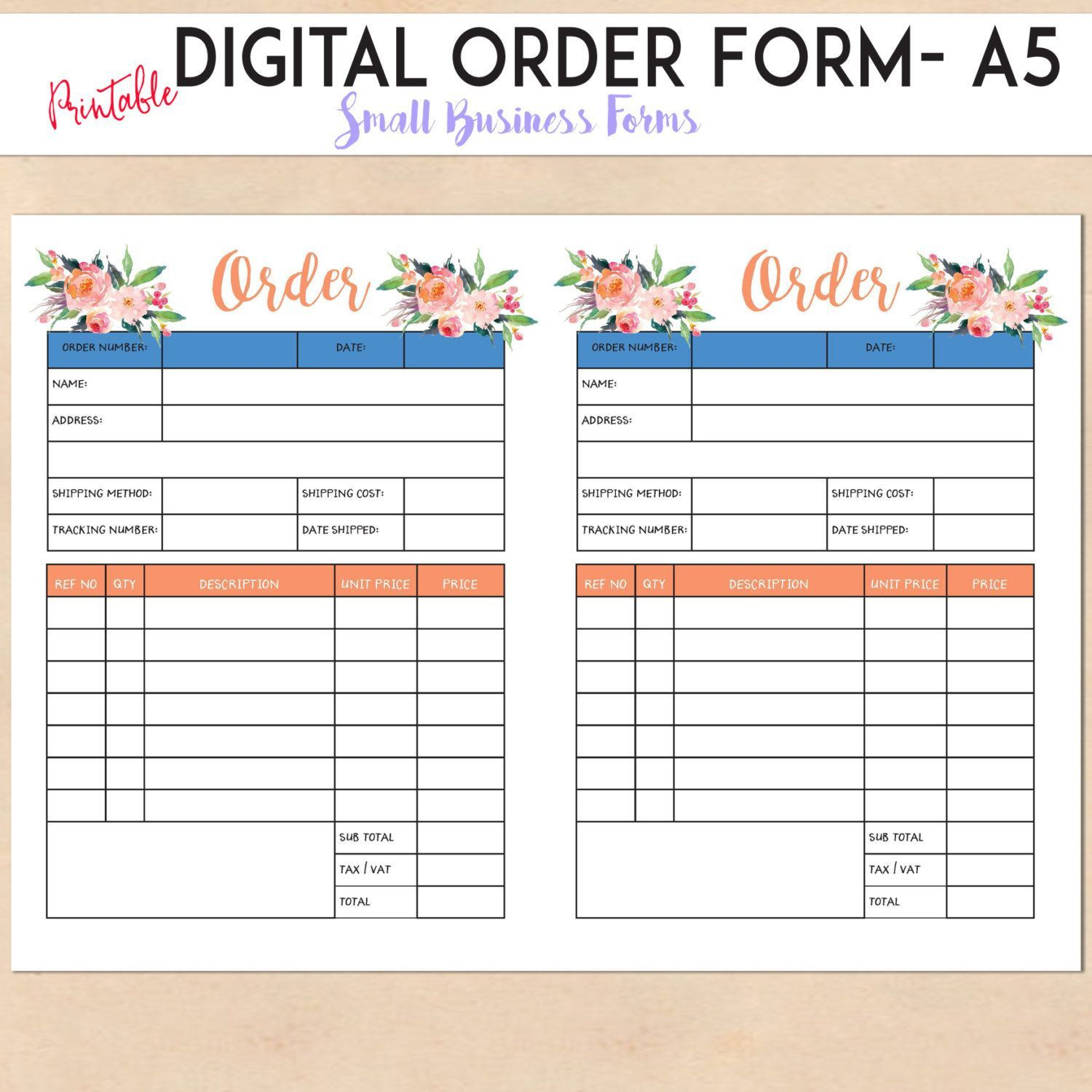 004 Surprising Custom Order Form Template Free Concept  Editable T Shirt TumblerFull