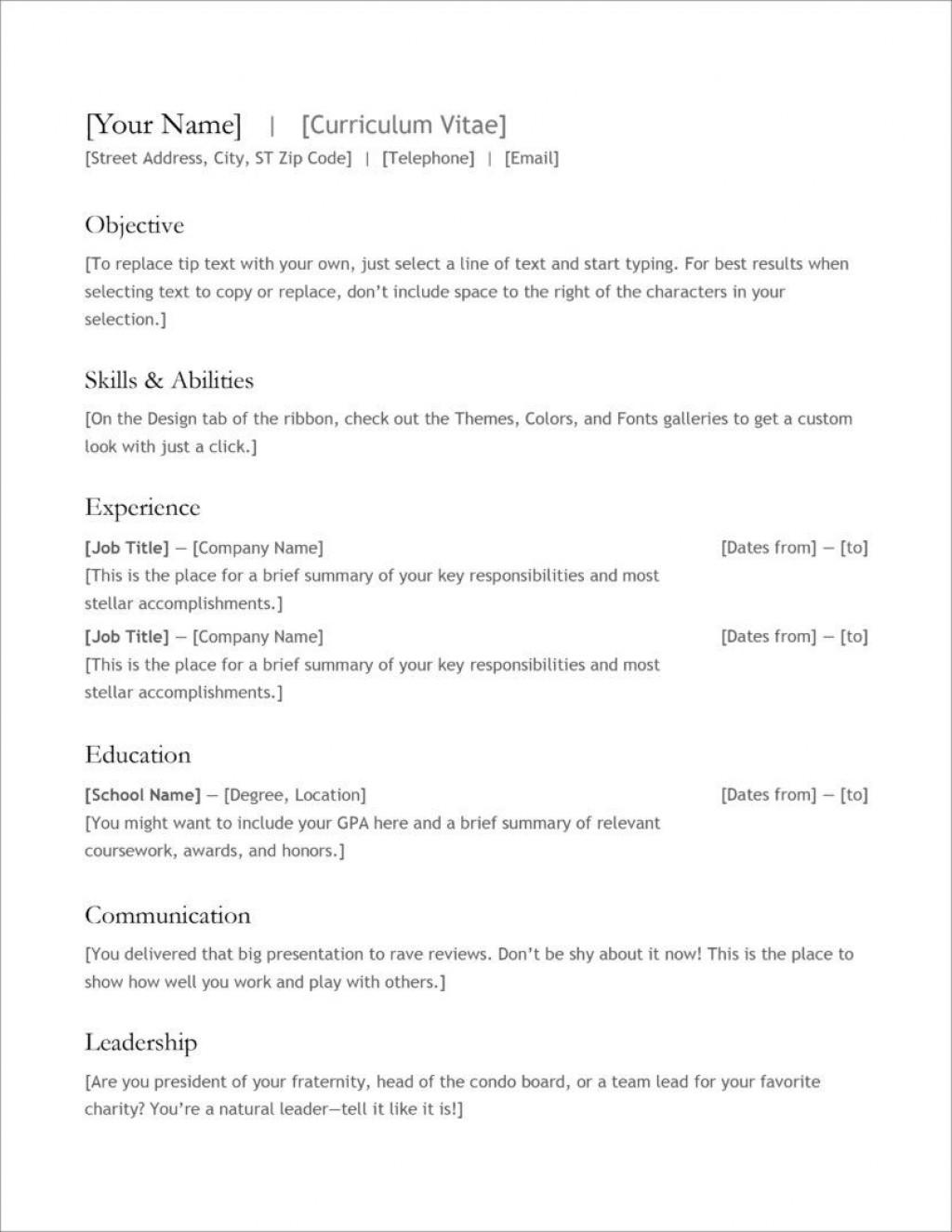 004 Surprising Cv Template For Teacher Job Concept  Example Education Sample ComputerLarge