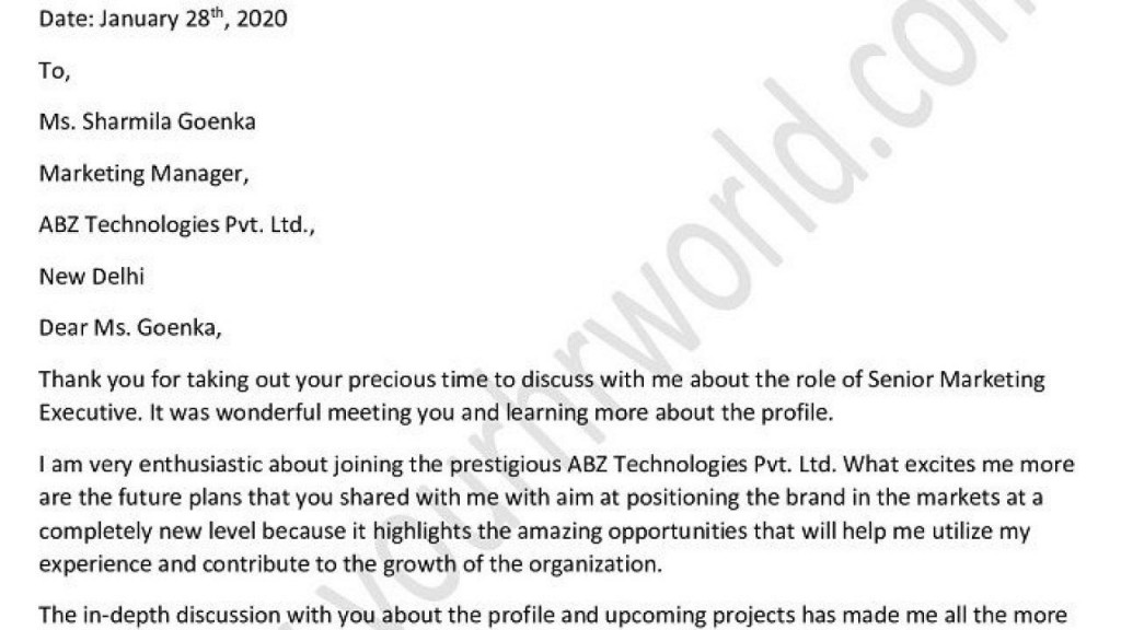 004 Surprising Follow Up Letter After Interview High Definition  Handwritten Note Email Sample For Job TemplateLarge