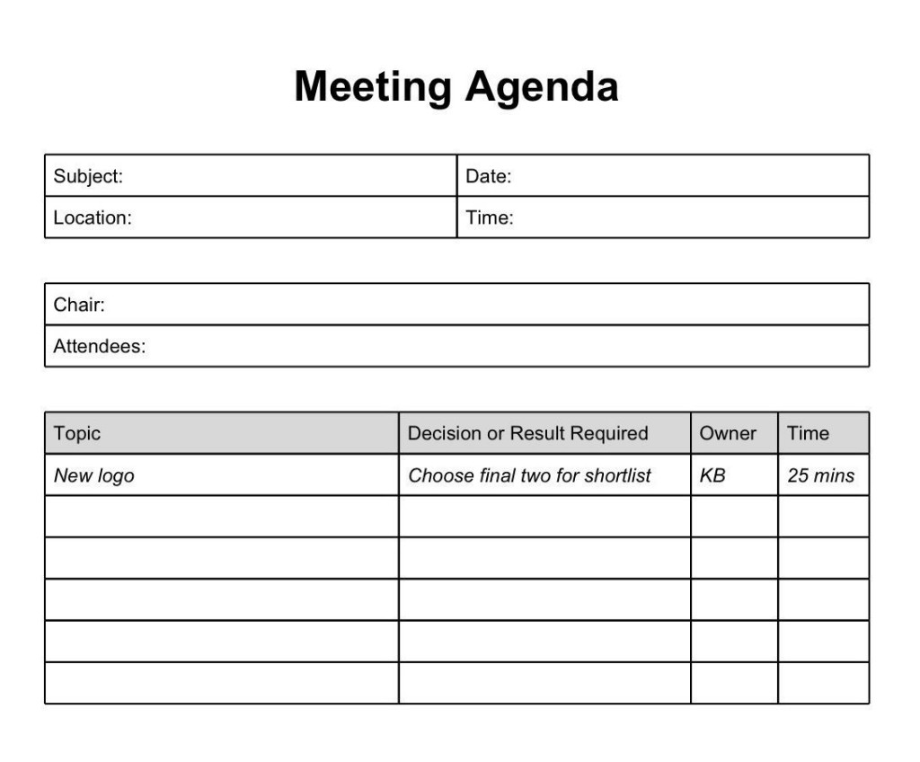 004 Surprising Formal Meeting Agenda Template High Def  Board Example PdfLarge