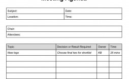 004 Surprising Formal Meeting Agenda Template High Def  Board Example Pdf
