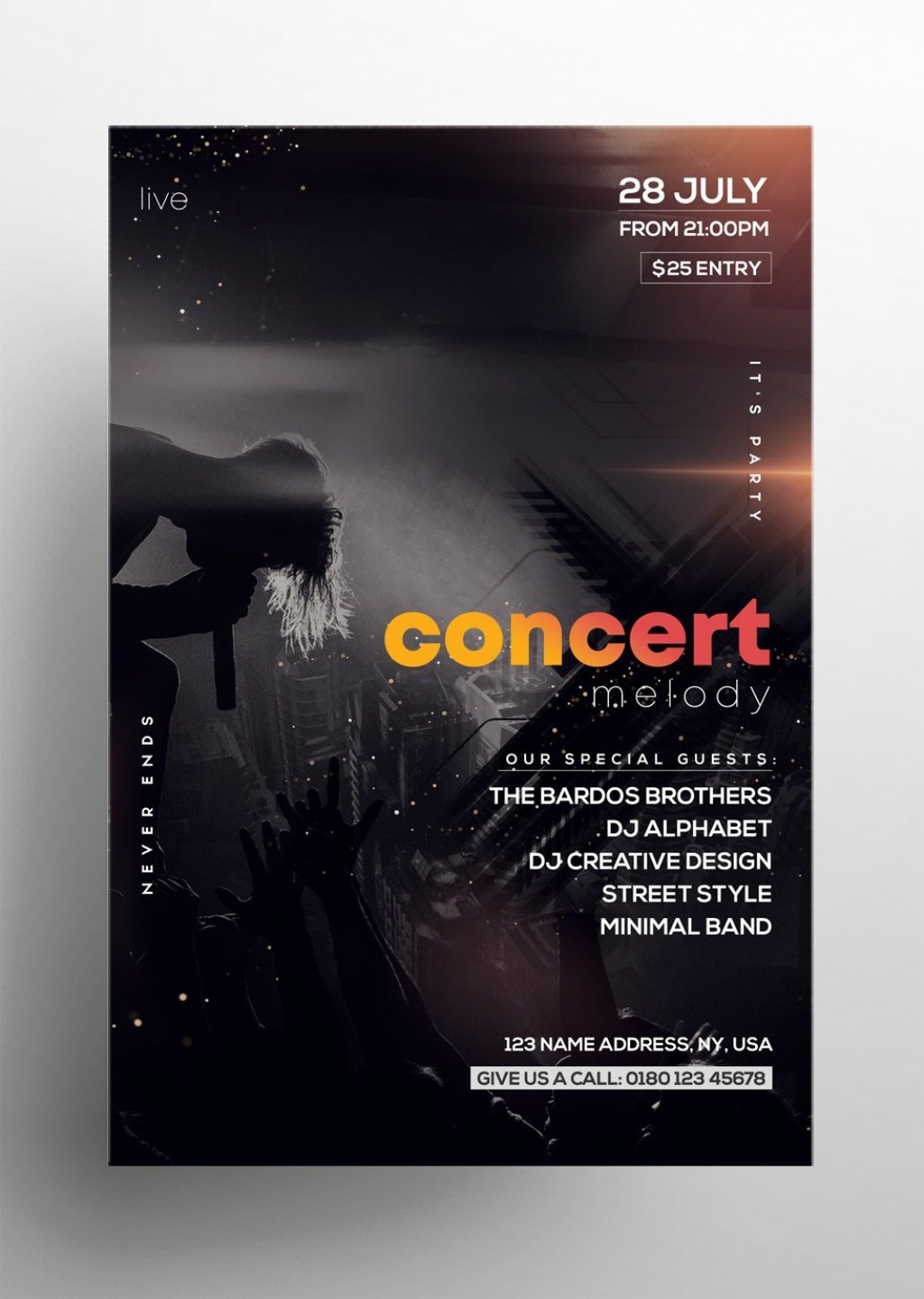 004 Surprising Free Concert Poster Template Sample  Word Classical MusicLarge