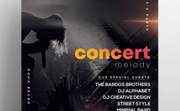 004 Surprising Free Concert Poster Template Sample  Word Classical Music