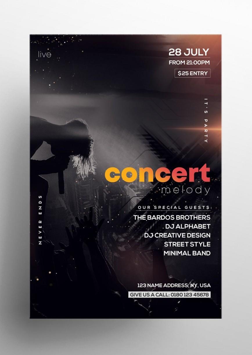 004 Surprising Free Concert Poster Template Sample  Gospel Christma