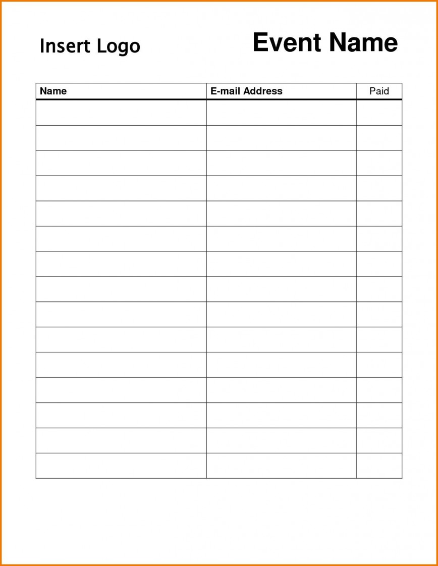 004 Surprising Free Signup Sheet Template Inspiration  Sign In Word Up Printable