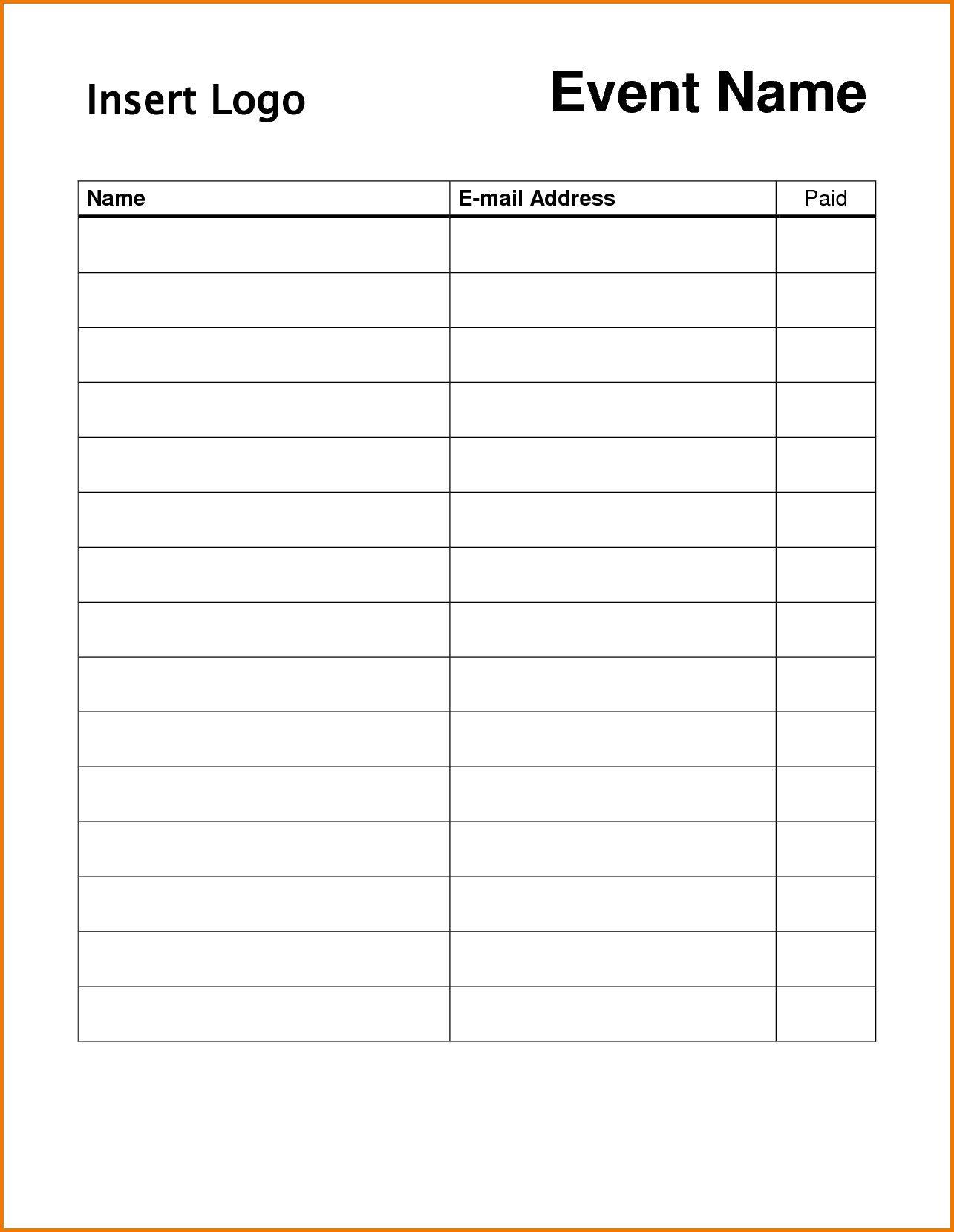 004 Surprising Free Signup Sheet Template Inspiration  Sign Up For Potluck Google Doc Volunteer InFull