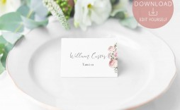 004 Surprising Free Table Name Place Card Template Design  Placement