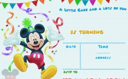 004 Surprising Mickey Mouse Invitation Template Image  Free Diy 1st Birthday Baby Download