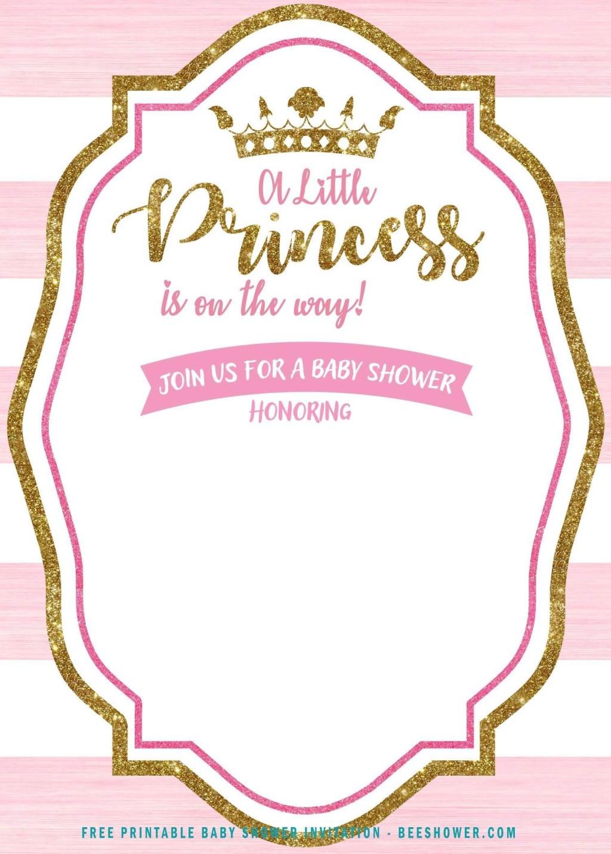 004 Surprising Princes Baby Shower Invitation Template Design  Templates Little Royal Red DisneyLarge