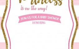 004 Surprising Princes Baby Shower Invitation Template Design  Templates Little Royal Red Disney